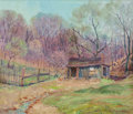 Fine Art - Painting, American:Antique  (Pre 1900), Edward K. Williams (American, 1870-1950). Cabin in theWoods. Oil on canvas. 24 x 28 inches (61.0 x 71.1 cm). Signedlow...
