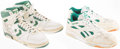 Basketball Collectibles:Others, Fred Roberts Game Worn, Signed Boston Celtics Shoes (2 Pair)....