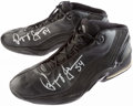 Basketball Collectibles:Others, Popeye Jones Game Worn, Signed Boston Celtics Shoes....