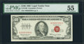 Small Size:Legal Tender Notes, Fr. 1550 $100 1966 Legal Tender Note. PMG About Uncirculated 55.. ...