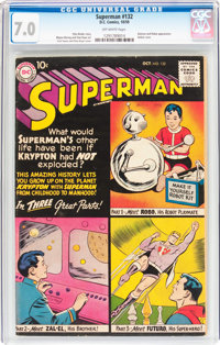 Superman #132 (DC, 1959) CGC FN/VF 7.0 Off-white pages