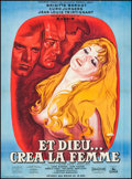 """Movie Posters:Foreign, And God Created Woman (Cocinor, R-1964). French Grande (46"""" X 62.5""""). Foreign.. ..."""