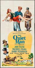 "Movie Posters:Drama, The Quiet Man (Republic, 1952). Three Sheet (41"" X 79""). Drama.. ..."