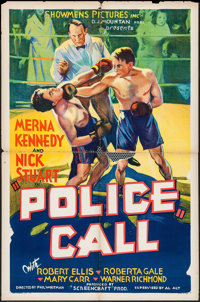 "Police Call (Showmens Pictures, 1933). One Sheet (27"" X 41""). Crime"