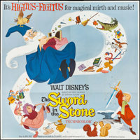 """The Sword in the Stone (Buena Vista, 1963). Six Sheet (83.5"""" X 83.5""""). Animation"""