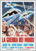 "Movie Posters:Science Fiction, The War of the Worlds (Paramount, R-1973). Italian 4 - Foglio(54.25"" X 77.75""). Science Fiction.. ..."
