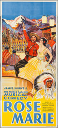 "Movie Posters:Drama, Rose Marie (James Shirvell, 1930s). British Theater Three Sheet(40"" X 88""). Drama.. ..."