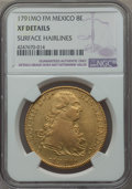 Mexico, Mexico: Charles IV gold 8 Escudos 1791 Mo-FM XF Details (SurfaceHairlines) NGC,...