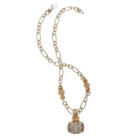 Diamond, Gold, Sterling Silver Pendant-Necklace, Alwand Vahan