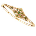 Estate Jewelry:Bracelets, Peridot, Gold Bracelet. ...