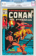 Bronze Age (1970-1979):Adventure, Conan the Barbarian #5 (Marvel, 1971) CGC NM- 9.2 Off-white pages....