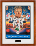 """Baseball Collectibles:Others, Mickey Mantle """"MVP '56 '57 '62"""" Signed Print...."""