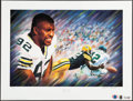 Football Collectibles:Others, Reggie White Signed Lithograph....