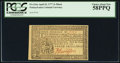 Colonial Notes:Pennsylvania, Pennsylvania April 10, 1777 3s PCGS Choice About New 58PPQ.. ...