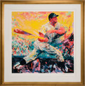 Baseball Collectibles:Others, 1999 Mickey Mantle Signed LeRoy Neiman Serigraph. ...