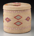 American Indian Art:Baskets, An Attu Twined Basket. c. 1900...