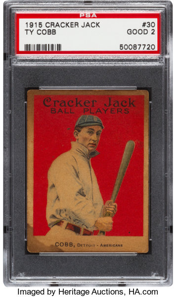 1915 Cracker Jack Ty Cobb 30 Psa Good 2 Baseball Cards Singles