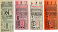 Baseball Collectibles:Tickets, 1931 World Series Ticket Stubs Lot of 4....