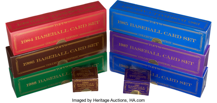 1984 1989 Topps Tiffany Baseball Factory Sets Collection 8