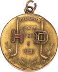 Hockey Cards:Other, 1930 Harvard vs. Dartmouth Hockey Medal....