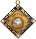 Baseball Collectibles:Others, 1953 Bill Stewart World Series Umpire Pendant. ...