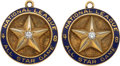 Baseball Collectibles:Others, 1948 Bill Stewart National League All-Star Game Pendant Lot of 2....