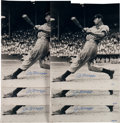 Baseball Collectibles:Photos, 1941 Joe DiMaggio Signed Photographs Lot of 6.. ...