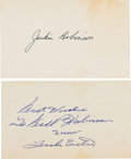 Baseball Collectibles:Others, 1950's Jackie Robinson & Luke Easter Signed Index Cards....