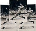 Baseball Collectibles:Photos, 1941 Joe DiMaggio Signed Photographs Lot of 5, Each PSA/DNA GemMint 10....