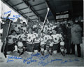 Hockey Collectibles:Photos, 1960 USA Gold Medal Olympic Hockey Team Signed Photograph....