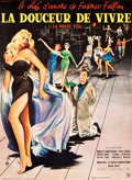 "Movie Posters:Foreign, La Dolce Vita (Consortium Pathé,1959). Full-Bleed French Grande(46"" X 62""). Yves Thos Artwork.. ..."