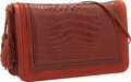 """Luxury Accessories:Accessories, Judith Leiber Shiny Brown Alligator Evening Bag. Very Good toExcellent Condition. 9.5"""" Width x 5.5"""" Height x 2""""Depth..."""