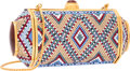 """Luxury Accessories:Bags, Judith Leiber Full Bead Multicolor Crystal Persian Carpet CapsuleMinaudiere Evening Bag. Excellent Condition. 6""""Widt..."""