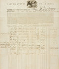 Books:Manuscripts, [United State Legal Document]. Articles and Agreements Regardingthe Ship Bordeaux. June 12th, 1815....