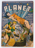 Golden Age (1938-1955):Science Fiction, Planet Comics #18 (Fiction House, 1942) Condition: Qualified VG....