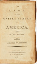 Books:Americana & American History, [American History]. The Laws of the United States of America. InThree Volumes. Philadelphia: Printed by Richard...
