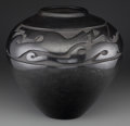 American Indian Art:Pottery, A Santa Clara Carved Blackware Jar . Margaret Tafoya. c. 1980...