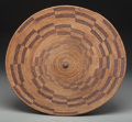American Indian Art:Baskets, A Large Maidu Coiled Tray. c. 1900...