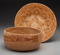 Two Mission Coiled Bowls c. 1920