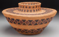 American Indian Art:Baskets, A Yokuts Polychrome Bottleneck Jar. c. 1900...