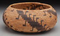 American Indian Art:Baskets, A Pomo Coiled Jar. c. 1900. ...