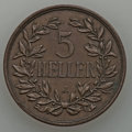 German East Africa, German East Africa: German Colony Quintet of 5 Heller Coins,...(Total: 5 coins)