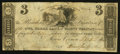 Obsoletes By State:Ohio, Mount Vernon, OH- Owl Creek Bank of Mount Vernon $3 Sep. 12, 1816....