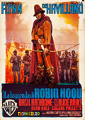 "Movie Posters:Swashbuckler, The Adventures of Robin Hood (Warner Brothers, R-1953). Italian 2 -Fogli (39"" X 55"") Luigi Martinati Artwork.. ..."