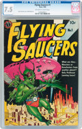 Golden Age (1938-1955):Science Fiction, Flying Saucers #1 (Avon, 1950) CGC VF- 7.5 Off-white to whitepages....