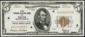 Small Size:Federal Reserve Bank Notes, Fr. 1850-A $5 1929 Federal Reserve Bank Note. Choice About Uncirculated.. ...