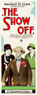 "The Show Off (Paramount, 1926). Insert (14"" X 36"")"