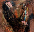 Fine Art - Painting, American:Contemporary   (1950 to present)  , LeRoy Neiman (American, 1921-2012). Gerry Mulligan, 1960.Oil on board. 47-3/4 x 52 inches (121.3 x 132.1 cm). Signed, d...