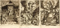 Books:Prints & Leaves, [Prints and Engravings]. Group of Three Sixteenth-CenturyEngravings Taken from: Sacri Rosarii Virginis Mariae. ...