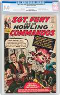 Silver Age (1956-1969):War, Sgt. Fury and His Howling Commandos #1 (Marvel, 1963) CGC VG/FN 5.0 Cream to off-white pages....